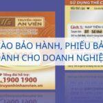 In thẻ cào bảo hành, phiếu bảo hành dành cho doanh nghiệp