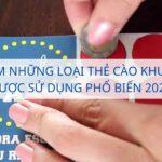 Đặc điểm những loại thẻ cào khuyến mãi được sử dụng phổ biến 2021