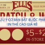 Những lưu ý cơ bản bắt buộc phải biết khi in thẻ cào giá rẻ