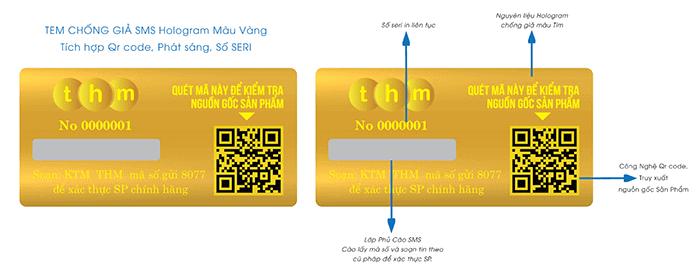 Đặc điểm kỹ thuật tem cào chống giả điện tử SMS