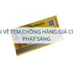 Giới thiệu về tem chống hàng giả công nghệ phát sáng